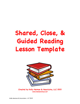 Shared & Guided Reading Lesson Plan Template