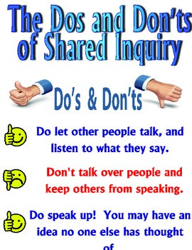 Shared Inquiry Rules Poster