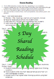 Shared Reading 5 Day Schedule