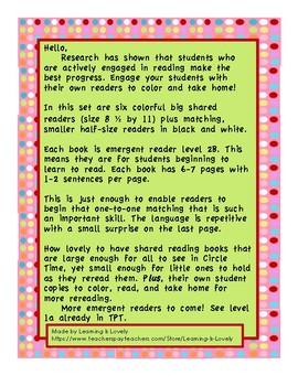 Shared Reading Big Books  Level 2B Plus Student Books: