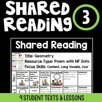 Shared Reading {Bundle 3}