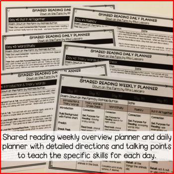 Shared Reading Bundle: Lesson Plans, Poems & Activities