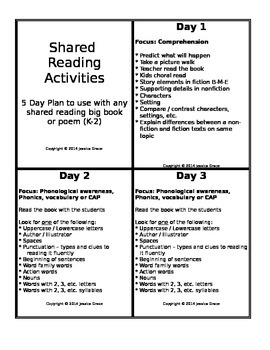 Shared Reading Cards