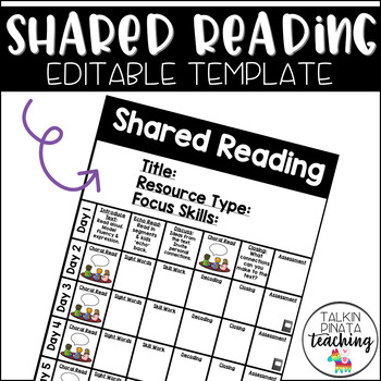 Shared Reading EDITABLE Template