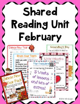 Shared Reading February Poems Kindergarten