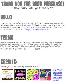 Shared Reading Folder Labels