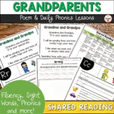 Grandparent's Day Poem of the Week with Phonics Lessons   Shared Reading
