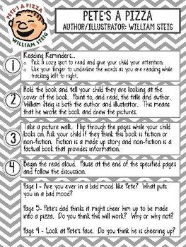 Shared Reading Guide for Teachers and Parents