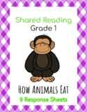 Shared Reading: How Animals Eat Grade 1 (Fountas & Pinnell Supplement)