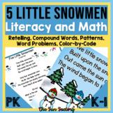 Five Little Snowmen Poetry Shared Reading Re-telling  PK and Kindergarten