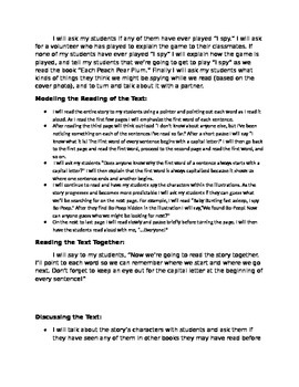 Shared Reading Lesson 1