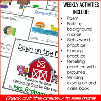 Shared Reading Lesson Plans, Poem & Activities: Down on the Farm