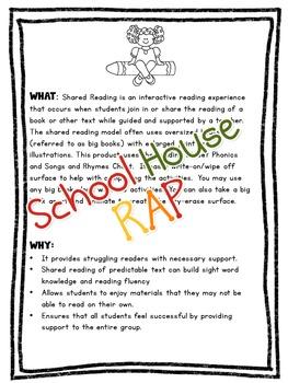 Shared Reading Lesson Reading Street Unit Three