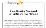 Shared Reading Look-Fors Checklist - A Tool for Planning