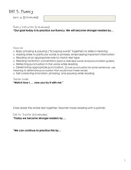 Shared Reading Nonfiction Lesson Template