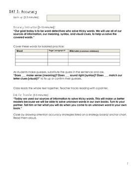 Shared Reading Fiction Lesson Template