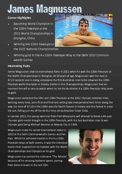 Shared Reading - Olympian Profiles