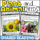 Plant and Animal Needs (Take Home Packet) Distance Learning