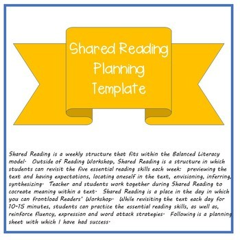 Shared Reading Planner