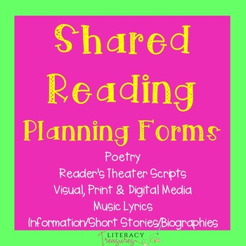 Shared Reading Planning Tools