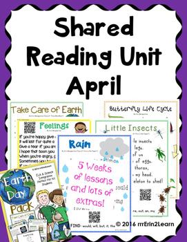 Shared Reading Poems Kindergarten April
