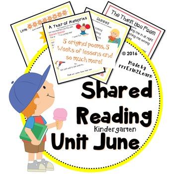 Shared Reading Poems Kindergarten June