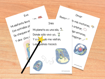 Shared Reading Poems - Spanish Vowels AEIOU - Poemas de lectura compartida