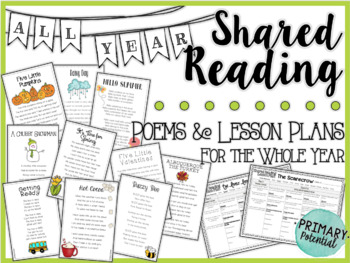 Shared Reading: Poems and Lesson Plans for the Whole Year