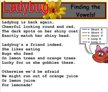 Shared Reading Poetry: Ladybug(SMARTboard, Gr 1-2)