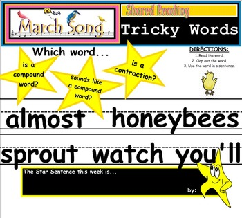 Shared Reading Poetry: March Song (SMARTboard, Gr 1-2)