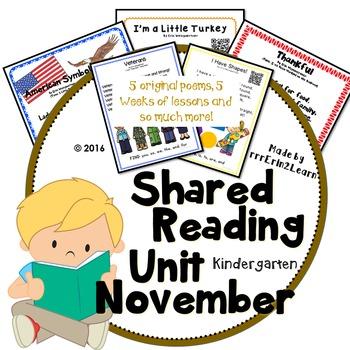 Shared Reading Poetry November in Kindergarten