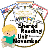 Shared Reading Poetry November in Kindergarten