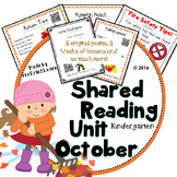 Shared Reading Poetry October in Kindergarten