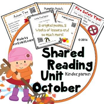 Shared Reading Poetry October in Kindergarten