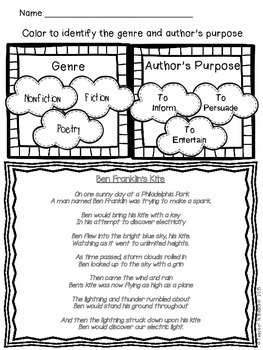 Shared Reading: Poetry Shared Reading Plans-Spring/ Ben Franklin- CCSS