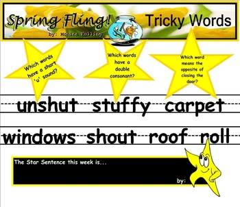 Shared Reading Poetry: Spring Fling (SMARTboard, Gr 1-2)