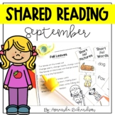 Shared Reading Poetry for September