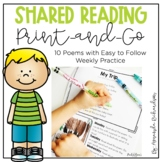 Shared Reading Print-and-Go | Distance Learning