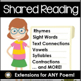 Shared Reading Extensions to Use with Any Chart Poem