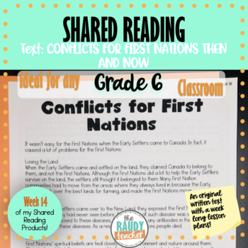 Shared Reading Text and Lessons: Week 14 *Grade 6 Aligned*