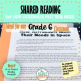 Shared Reading | HOW ASTRONAUTS MEET THEIR NEEDS | GR 6 | Ontario Curriculum