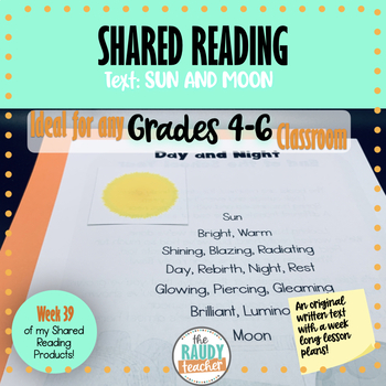 Shared Reading Text and Lessons: Week 39