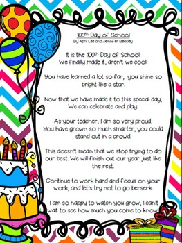 Shared Reading: The 100th Day of School (poetry)