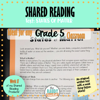 Shared Reading Week 8 (Grade 5 Ontario Curriculum Aligned)