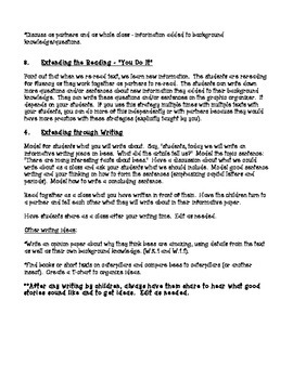 Busy Bees Shared Reading and Writing Lesson Plan- CCSS Aligned
