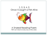 Shared Reading for Smartboard - 1, 2, 3, 4, 5 Once I Caught a Fish Alive