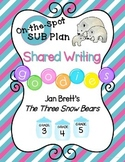 Shared Writing Sub Plan for The Three Snow Bears by Jan Brett