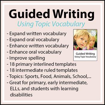 ESL - ELL - Writing Worksheets