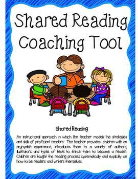Shared and Guided Reading Coaching Tools