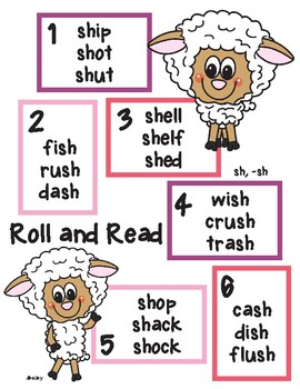 Shari Sheep Roll and Read sh, -sh